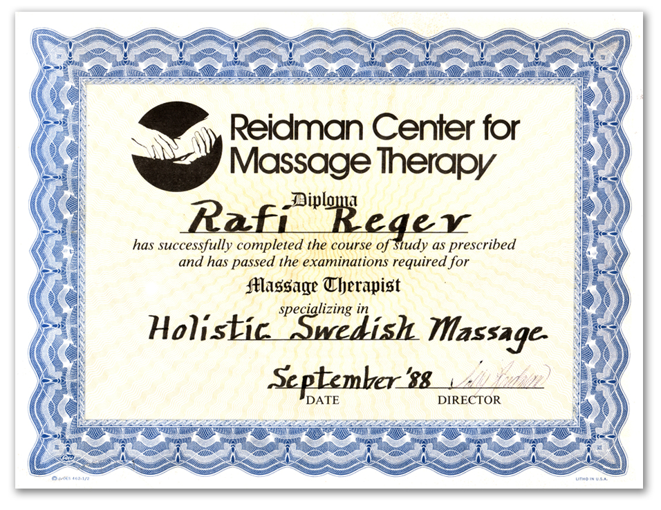 Rafi Is A Professional Certified Massage Specialist In Vancouver Bc